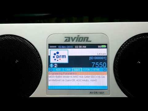 ALL INDIA RADIO BANGALORE DRM 7550 kHz 17 nov 2015 2106 UTC