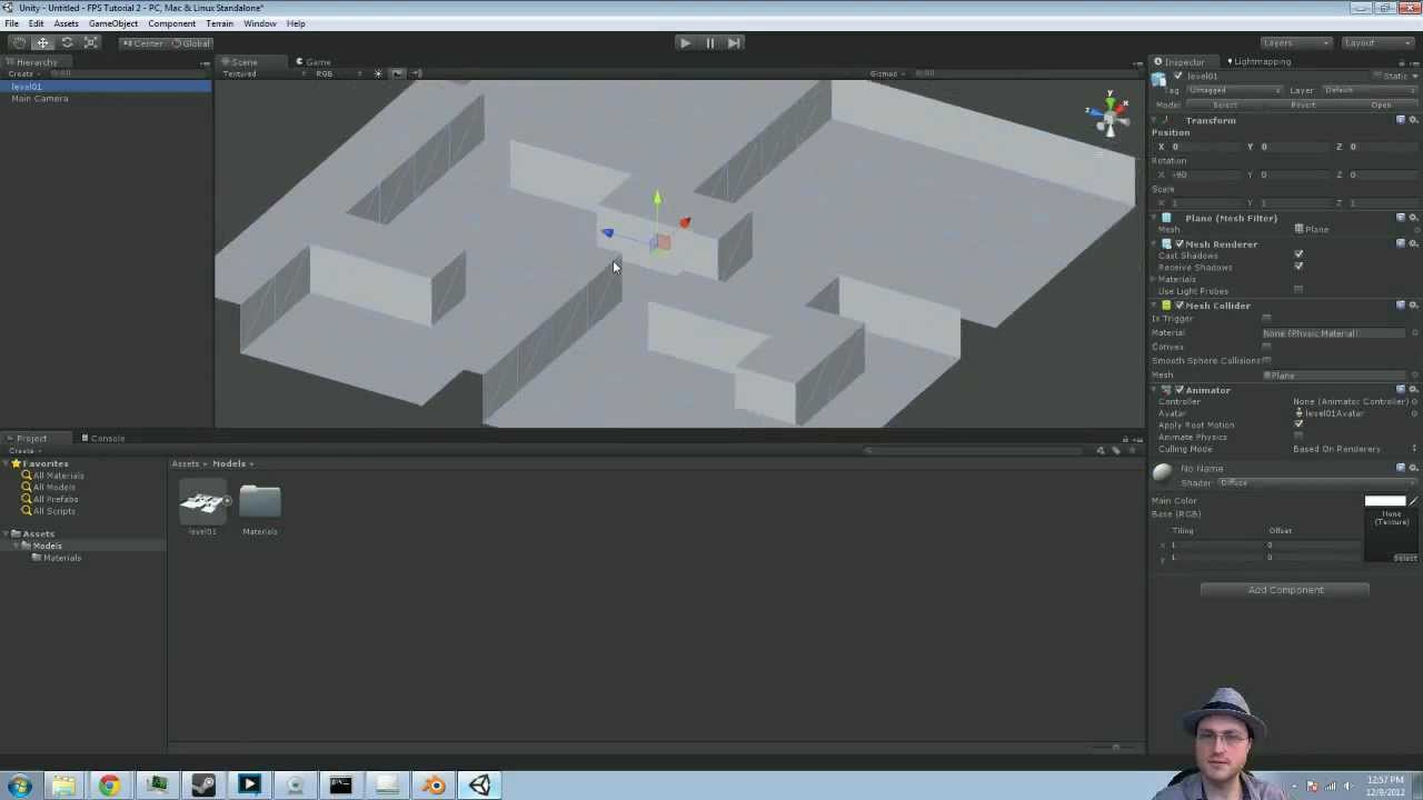 Unity 3d Simple First Person Shooter Tutorial Part 1