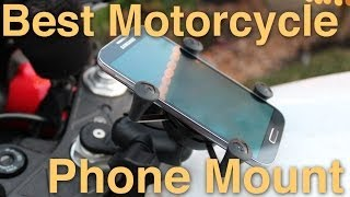 RAM Mount Install - Motorcycle Phone Mount Review