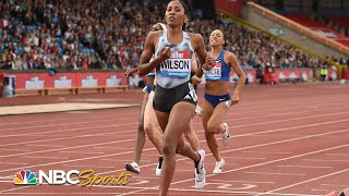 USA's Ajee Wilson keeps hot streak alive in 800m Diamond League victory | NBC Sports