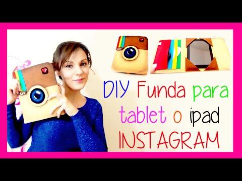 DIY funda protectora para tablet o ipad como el logo de instagram,estuche, manualidades faciles