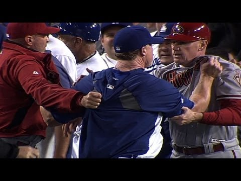 6/11/13: Both teams trade hit-by-pitches that empty the benches, but when Zack Greinke is hit by Ian Kennedy, tensions escalate into a second altercation Check out http://m.mlb.com/video for...