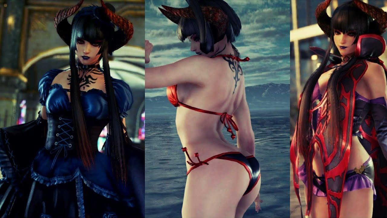Tekken 7 Eliza Unlockable Costumes Showcase - YouTube