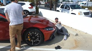 Picking up the new Aston Martin Vantage