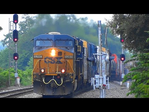 CSX Mixed Freight Train Q398 In Shenandoah Junction, WV