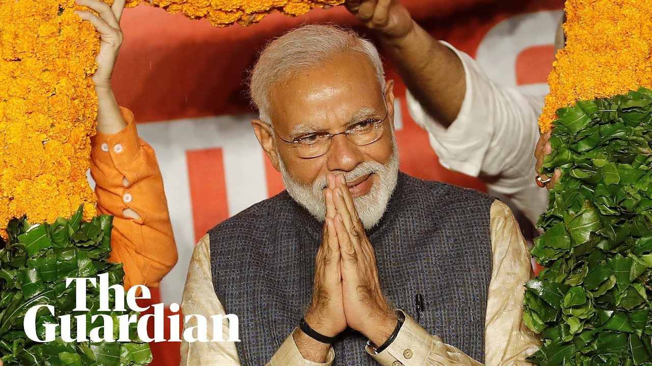 Hindu nationalist leader Narendra Modi claims landslide victory in Indian election