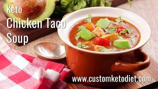 How to make Keto Chicken Taco Soup || KetoDiet Food Recipe
