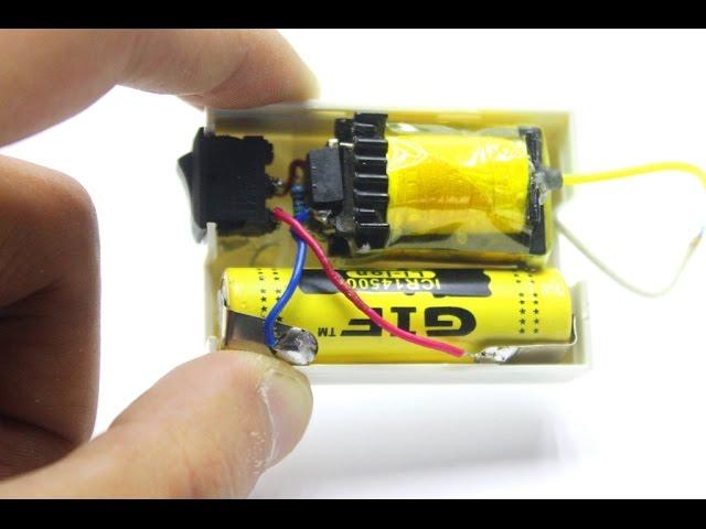 Как сделать электрошокер из зажигалки и батарейки 176
