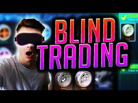 BIGGEST Blind Trading With PAINTED APEX! (Rocket League Trading)