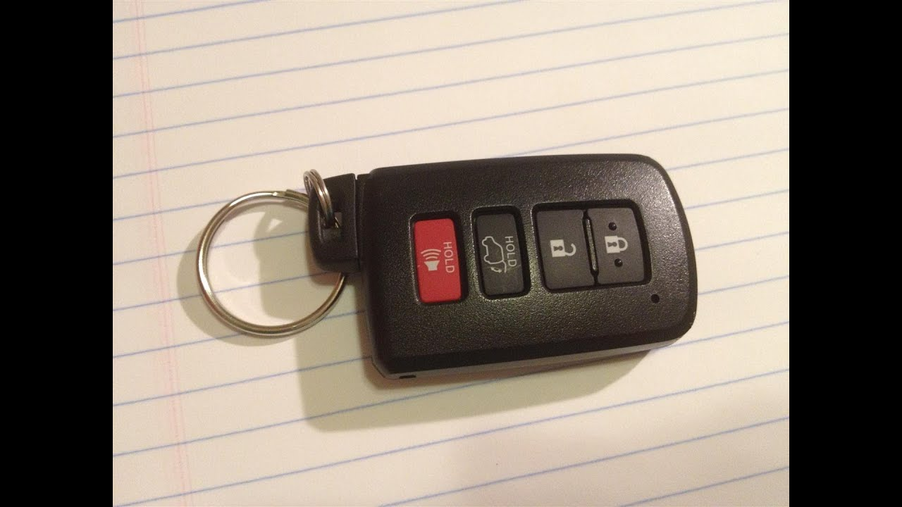 diy how to change replace smartkey keyfob battery on a 2013 toyota rav4 avalon camry hyq14fba. Black Bedroom Furniture Sets. Home Design Ideas