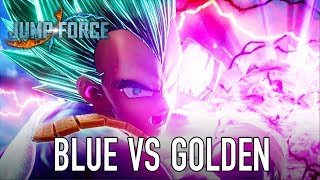 JUMP Force - PS4/XB1/PC - Super Saiyan Blue and Golden Frieza (gameplay)