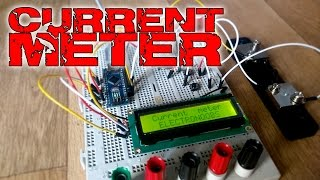 Arduino based current meter with i2c LCD screen
