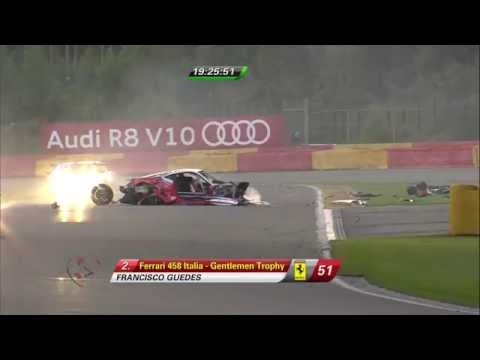 Mahy and Kogay Horror Crash Aftermath @ 2014 Spa 24H