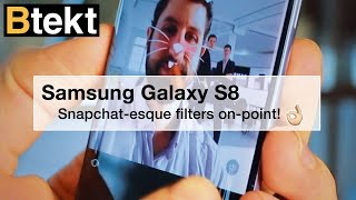 Samsung Galaxy S8's ridiculous Snapchat camera filters