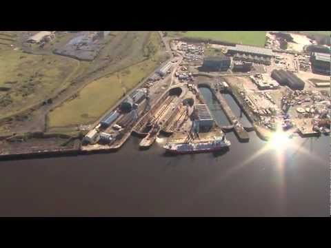 A&P Tees yard from the air