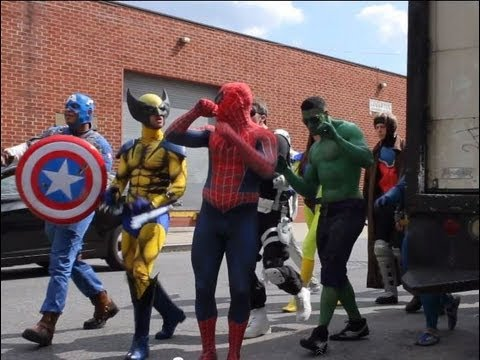 MARVEL TAKES OVER NYC EPIC FLASH MOB!