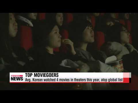 Koreans top global list of movie theater goers   한국 사람들은 올해도 2억 명