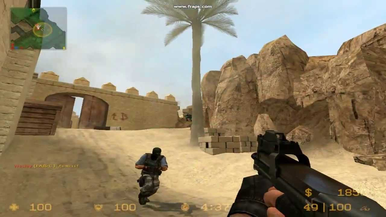 Counter Strike source против ботов - YouTube