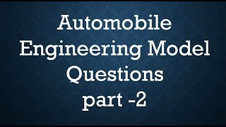 #automobile #engineering model #questions and #answer for upcoming exam#mcq#