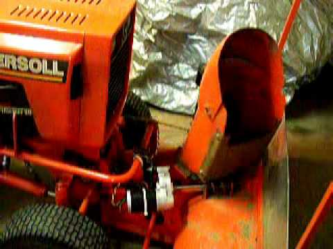 Ingersoll Tractor Snowblower electric chute controls