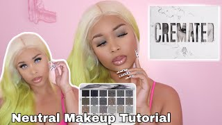 NEUTRAL EYESHADOW TUTORIAL JEFFREE STAR COSMETICS CREMATED PALETTE