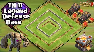 Th11 Legend Defense Base 2017 Replay | Anti 2 star base/Anti Queen Walk Bowler Witch/Anti Lavaloon