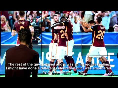 Florenzi scores WONDER Goal I Interview The Day After I AS Roma - FC Barcelona