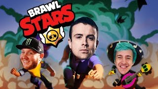 Super fun mobile game Brawl Stars! w/ Ninja, TimTheTatMan, and Dakotaz! #ad