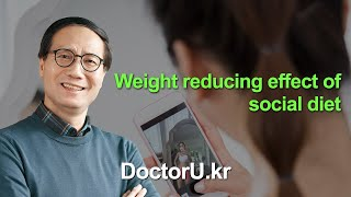 Weight reducing effect of social diet