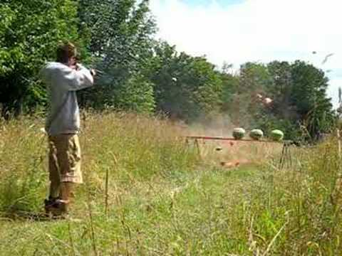 12 gauge Remington 870 shotgun vs. Watermelons