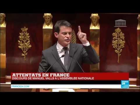 Attentats en France - Retrouvez en intégralité le discours de Manuel Valls