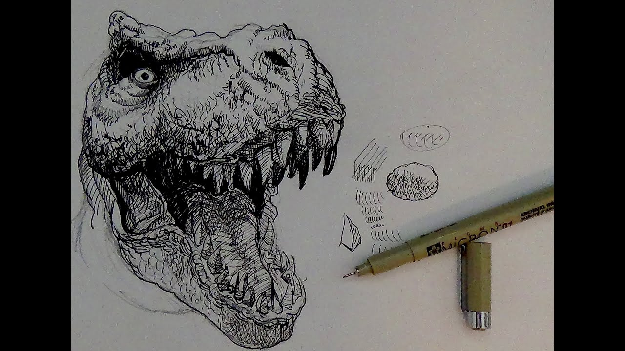 Awesome t Rex Drawings to Draw a T-rex Dinosaur