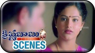 Onamalu - Krishna Babu Telugu Movie Scenes   Raasi Revealing The Facts Behind Her Marriage   Meena