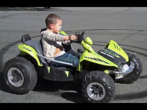 POWER WHEELS DUNE RACER MODIFIED 24 VOLT.  4 YEAR OLD 180 PRACTICE. DON'T MISS THE END.