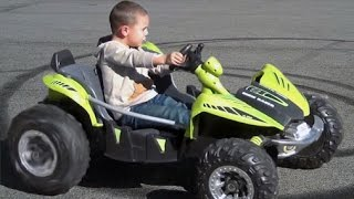 POWER WHEELS DUNE RACER MODIFIED 24 VOLT. 4 YEAR OLD 180 PRACTICE, DON'T MISS THE END.