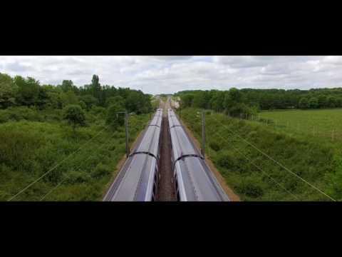 TGV Atlantique 2017 - Divergence vue du ciel