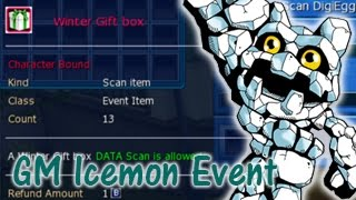Kascayyde viyoutube scanning 13 winter gift boxes gm icemon event digimon masters online negle Images