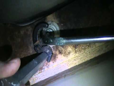 How to remove a kitchen faucet with a basin wrench when it is very tight.
