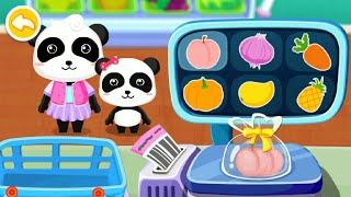 Baby Panda's Supermarket Gameplay | BabyBus Kids Games #23