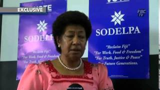 Exclusive Interview with SODELPA Leadr   Ro Teimumu Kepa