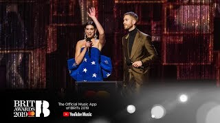 39 One Kiss 39 By Calvin Harris Dua Lipa Wins British Single The Brit Awards 2019