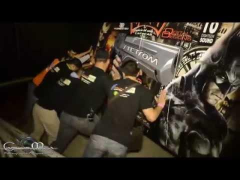 DIOSA CANALES JUNTO A AUTOSONIDO INFINITY EN EL MOTO SHOW MARACAIBO