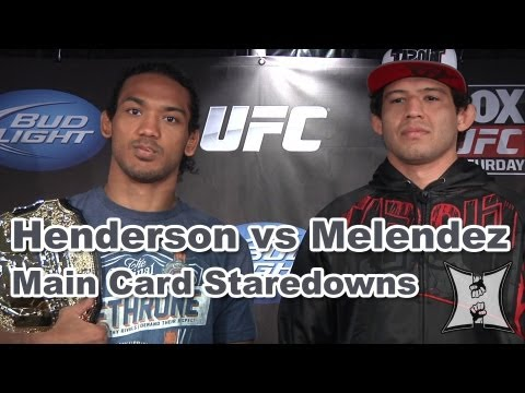 UFC on FOX: Henderson vs Melendez Main Card Staredowns (HD / complete + unedited)