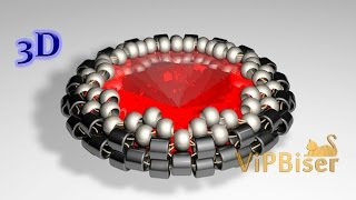 Beaded Rivoli. 3D Tutorial