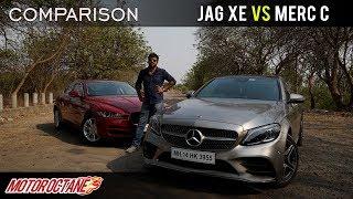 Jaguar XE vs Mercedes C300d Comparison | Hindi | MotorOctane