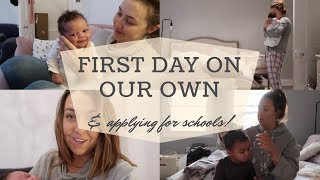 FIRST DAY ON OUR OWN | 2 WEEKS OLD