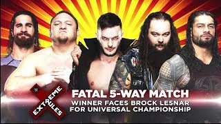 WWE 2K17 (Fatal 5-Way Extreme Rules Match) - EXTREME RULES 2017 -  Universal Title No 1. Contender