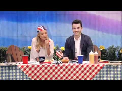 Kevin Jonas co-hosting Live! with Kelly. Part 1. Host Chat.