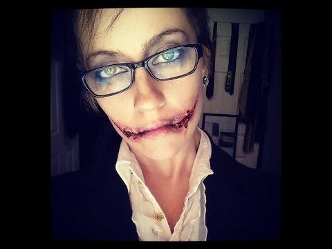 Grin Halloween Makeup Tut