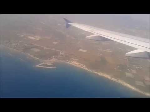 Landing at Larnaca Airport Cyprus Airways